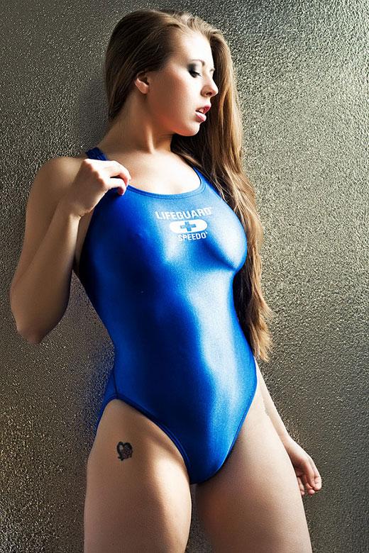 Blue Life Guard Swimsuit