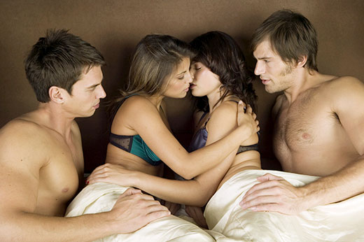 Two Couples Having Sex