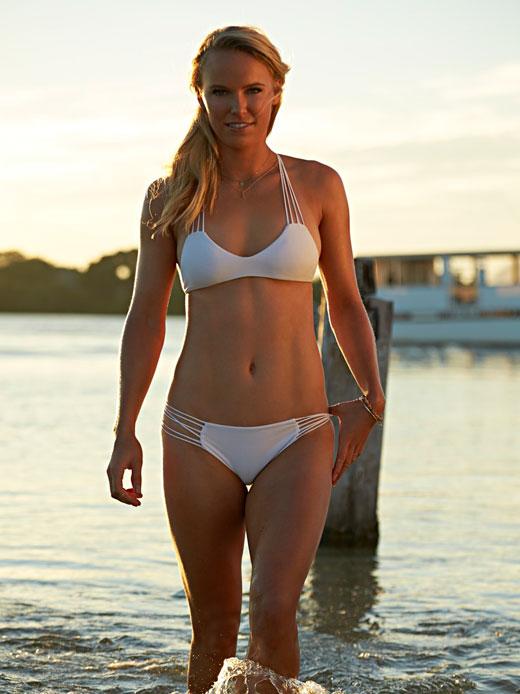 Wozniaki White Bikini