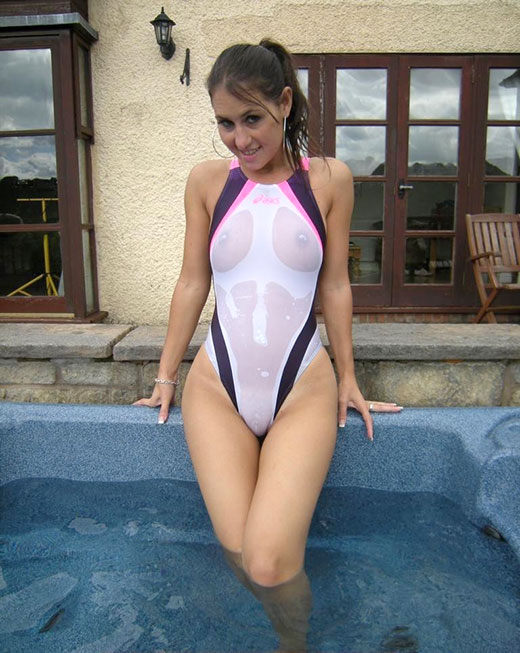 One piece swimsuit fuck